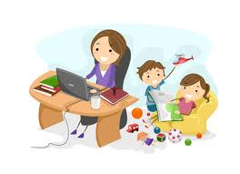 Mom with home-based business
